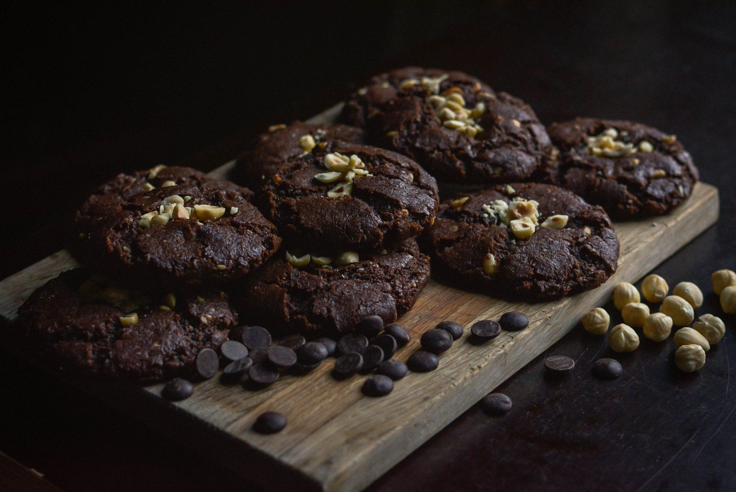 Je bekijkt nu Chocolade hazelnoot koeken